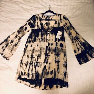 Billabong button up tie dyed tunic